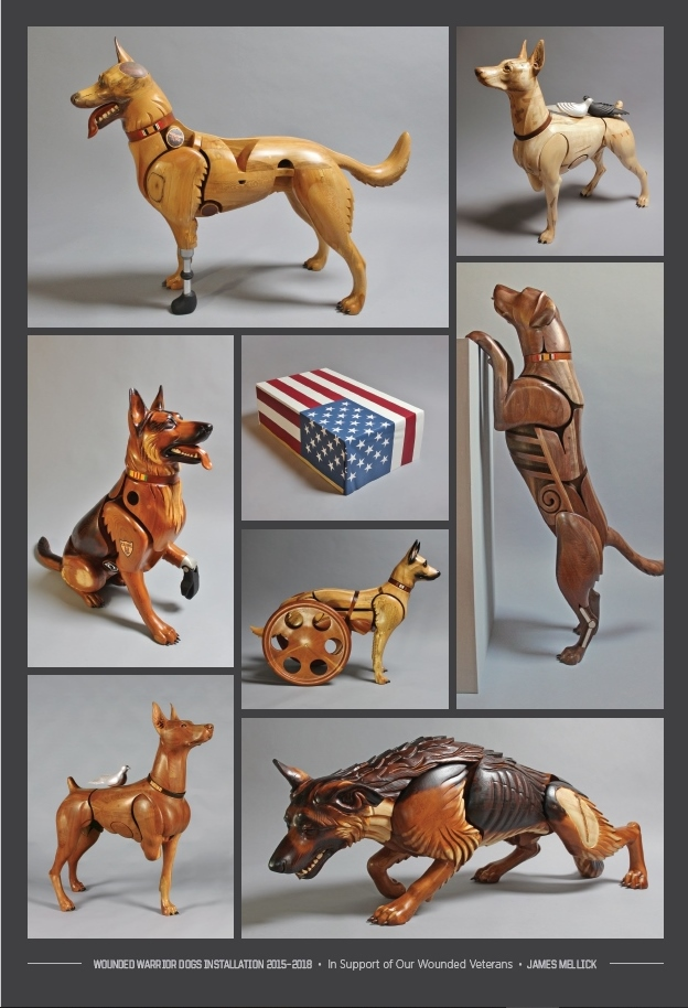Wounded Warrior Dogs Poster